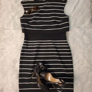Ralph Lauren stripes sleeve dress size 12